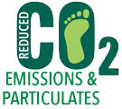 Reduced CO2 Emissions & Particulates