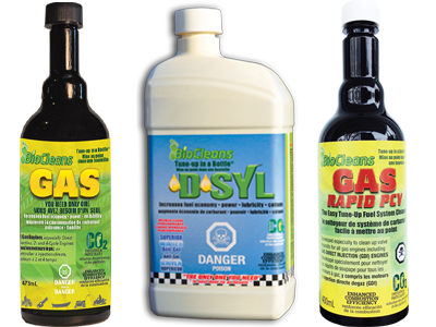 BioCleans DSYL, Gas and Gas Rapid PCV Bottles